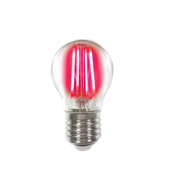 Deco LED Filament P45 4W-E27/Rot